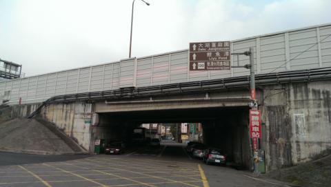 苗130縣道高速公路橋下